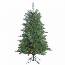 trim a home 4 5 pre lit mountain spruce with 250 multi color