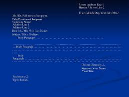 Business Letter Generic Recipient Business Letter Presentation