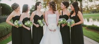black and bridesmaid dresses bridesmaid dresses weddinginclude wedding ideas inspiration