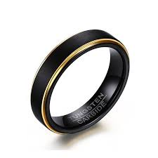mens black rings wholesale cool simple men s black gold rings top quality tungsten