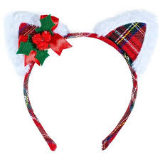 christmas hair accessories christmas cat headband 46680 pyg liked on polyvore featuring