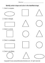 basic shapes worksheets coloring shapes worksheets worksheet