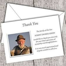 thank you cards for funeral personalised sympathy funeral thank you cards packs of 10 20 40