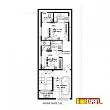 Amazing House Plan For 20 Feet 52 Feet Plot Plot Size 116 Square 16 X 50 Floor Plans