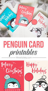 free penguin christmas card printables penguins free and cards