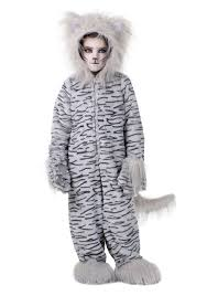cat costume deluxe grey cat costume for kids