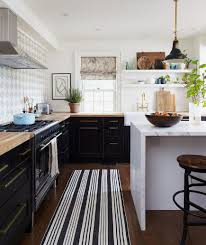 Black And White Striped Kitchen Rug Kitchen Patterns