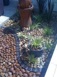 landscaping with stone i like the use of different stones and