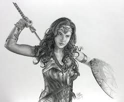 pencil drawing of wonderwoman by chaseroflight on deviantart