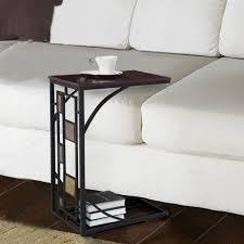 black and tan hamilton narrow wood top c table sofa table best home desain and decorating ideas