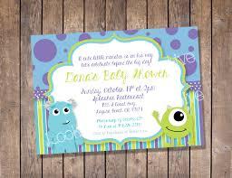 monster invitation monsters inc baby shower invitation custom digital print