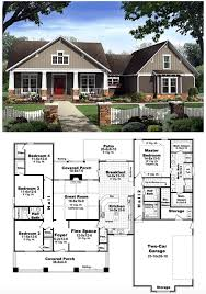 bungalow country craftsman house plan 59198 craftsman hidden