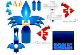 Sonic The Hedgehog Papercraft - sonic papercraft by cheetor182 on deviantart