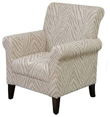 Zebra Accent Chair Percy Zebra Club Chair Contemporary Armchairs And Accent