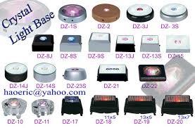 rotary light base lighted display base lighted display base id