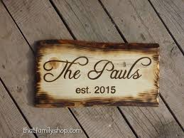 buy handmade rustic name sign with burned edges made to order
