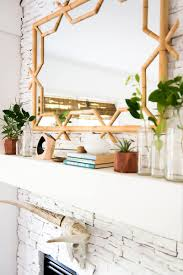 mantel decor update with serena u0026 lily bamboo mirror place of my