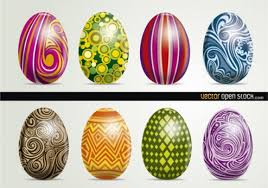 decorative eggs shiny easter eggs decorative vector vector free