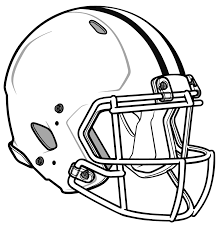 clip art football helmet free coloring pages blank football