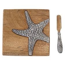 starfish platter mud pie starfish sea cheese board and platter set reviews