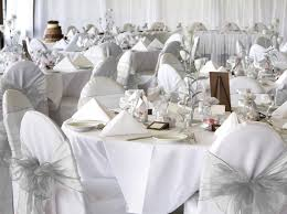 White Banquet Chair Covers 12 White Wedding Chair Covers Carehouse Info