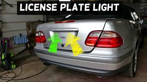 mercedes light replacement mercedes clk w208 license plate light tag light replacement