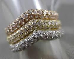 v shaped diamond ring ebay estate large 2 03ct diamond 18kt tri color gold v shape