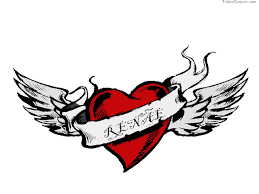 free designs with wings and name wallpaper picture 6564