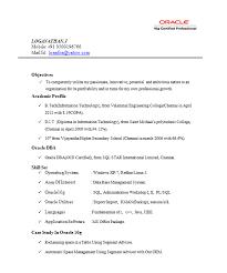 oracle resume sample oracle resume sample dba resume example