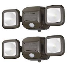 mr beams security lights mr beams mb3000 500 lumen led security light motion sensing battery