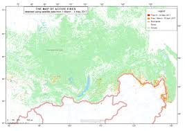 Active Wildfire Map by Current Forest Fires In The Russian Federation