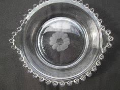 Hughes Cornflower Crystal Cordials Lancaster Yellow Bowl Cornflower Pattern 1930 U0027s Depression Glass