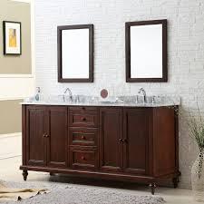 virtu usa opal 48 in wall mount espresso double bathroom vanity