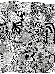 free coloring page coloring zen anti stress abstract to