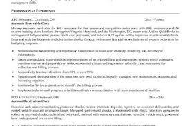 Billing Clerk Resume Sample by Accounts Receivable Resume Examples Accounts Receivable