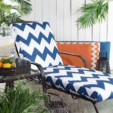 Blue Outdoor Cushions Coral Coast Valencia Outdoor Chaise Lounge Cushion Boxed Edge