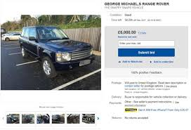 auto bid on ebay george michael s snappy snaps crash range rover for sale on ebay
