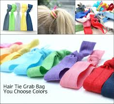 emi hair ties no tug hair tie grab bag 25 ribbon hair elastics gift set