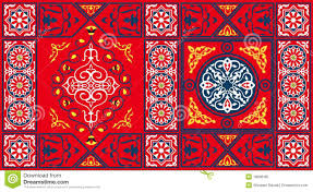 fabric patterns egyptian tent fabric pattern 2 red royalty free stock photo