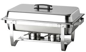 true craftware oblong stainless steel chafing dish with cool