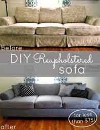 tutorial diy couch reupholster with a canvas drop cloth turn an
