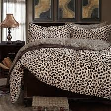 Leopard Bed Set 100 Cotton Duvet Cover Bedding Set Leopard Bedcolthes Damask