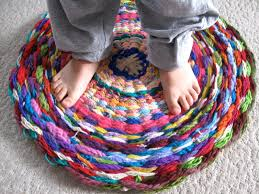 Hoola Hoop Rug Woven Rug Or What To Do With All That Finger Knitting