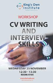 resume writing skill koi cv writing and interview skills workshop resume and writing