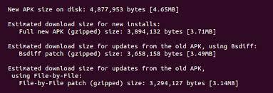 the apk tracking app update sizes developers medium