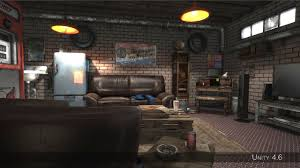 Garage Interior Design by Auto Repair Shop High Detail Garage 3d Asset Cgtrader