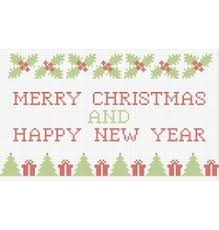 christmas cross stitch royalty free vector image