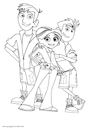 wild kratts protagonists coloring pages coloring and drawing