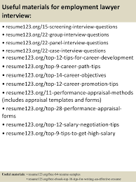 top 8 employment lawyer resume samples