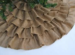 decorating ruffled burlap tree skirt for christmas decoration ideas